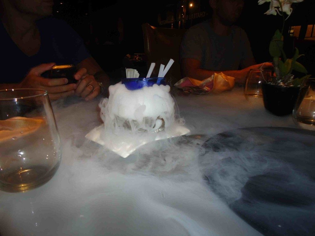 How's this for a free dessert with a wow factor! (Sam's Steakhouse)