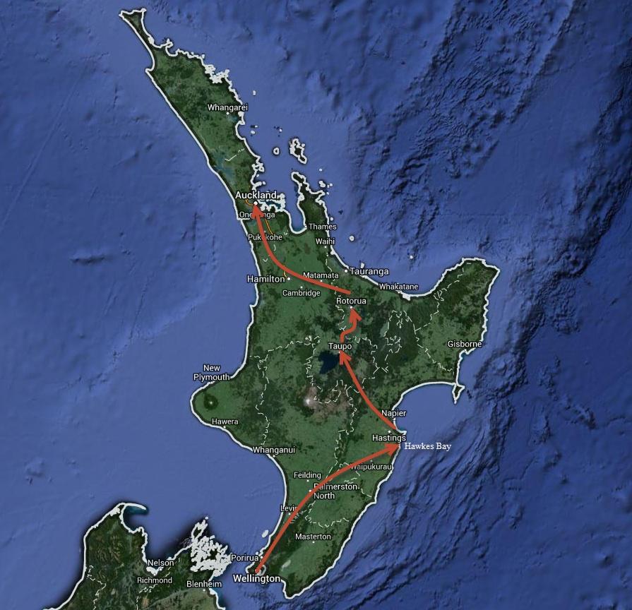 New Zealand North Island Road Trip