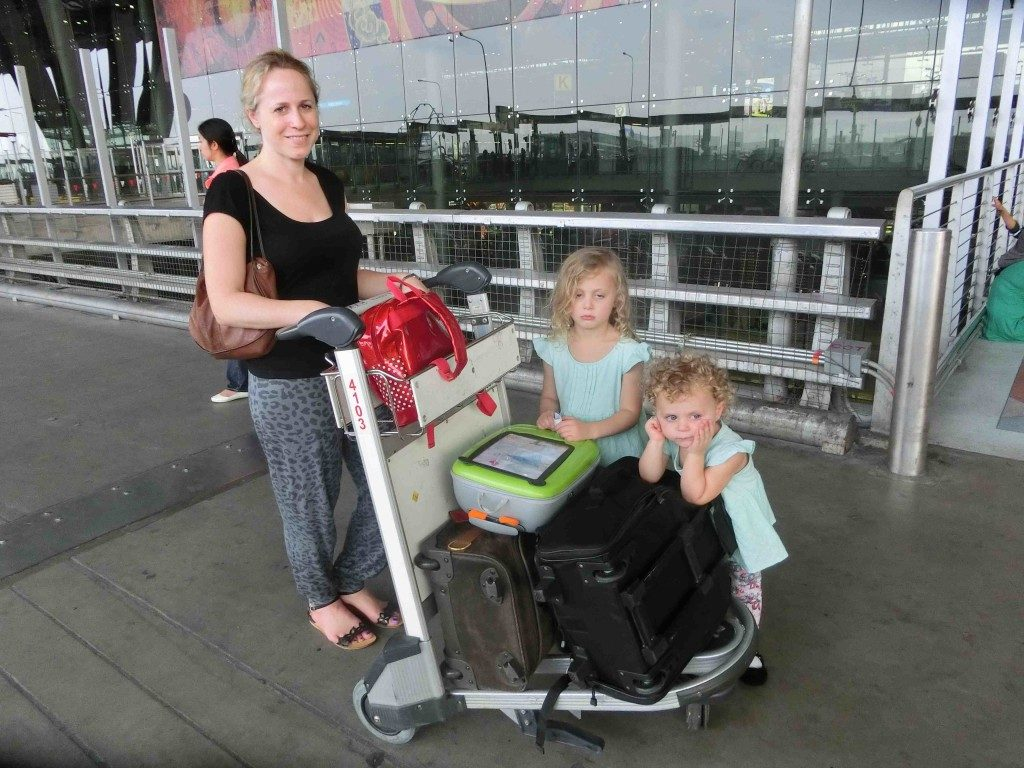 Nic and kids travelling with grumpy children