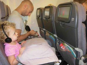 Sky watching Peppa on Qantas