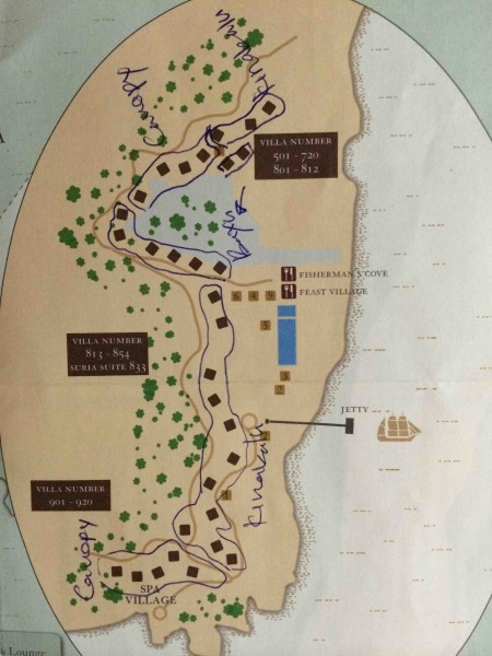 Gaya Island - Resort Map - Shrink