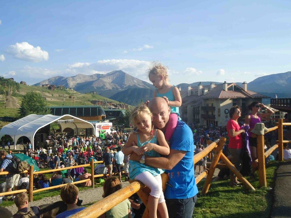 Stumbling across a local music festival in the beautiful Crested Butte, Colorado
