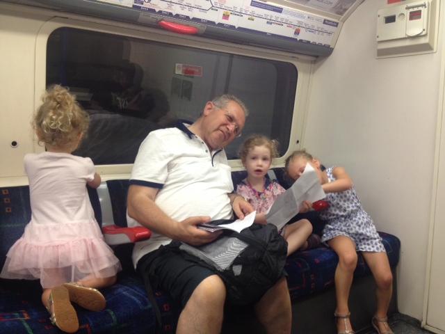 Grandpa Joe in for a noisy commute