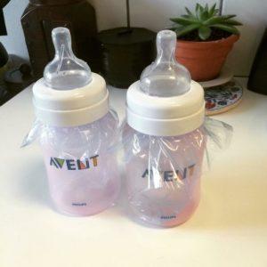 Plastic sterilising bottles