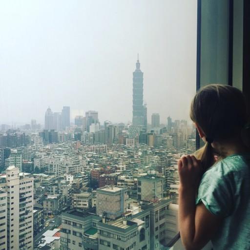 Checking out Taipei 101