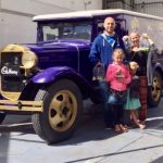 holding all our free samples at the Cadbury's factory in Dunedin